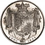 1834 William IV Silver Half Crown Reverse
