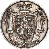1836 William IV Silver Half Crown Reverse