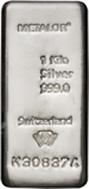1 Kg Silver Bar Metalor New 23825