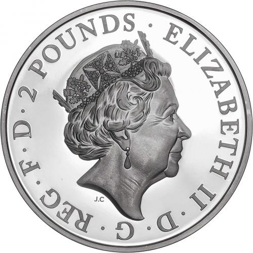 2019 1 oz Silver Proof Britannia Coin Obverse