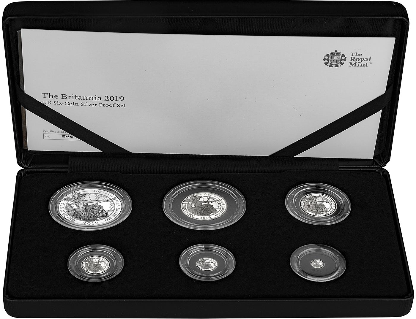 2019 10  COIN SILVER Proof Set  with W reverse proof penny in capsule
