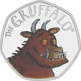 2019 Silver Proof 50 Pence Gruffalo Coin Reverse Reverse