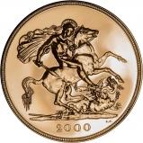 2000 Gold Bullion Quintuple £5 Sovereign Reverse