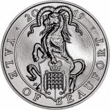 2019 £5 BU Queen's Beasts - Yale of Beaufort Reverse