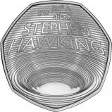 2019 Stephen Hawking B.U. 50p Coin Reverse
