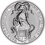 2019 2 oz Silver Coin Queen's Beasts Yale of Beaufort Bullion Reverse