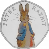 2019 UK Coin 50p Silver Proof Beatrix Potter - Peter Rabbit Reverse