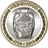 2019 £2 BU 260th Anniversary of Wedgwood Coin Reverse