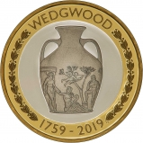 2019 £2 Silver Proof 260th Anniversary of Wedgwood Coin Reverse