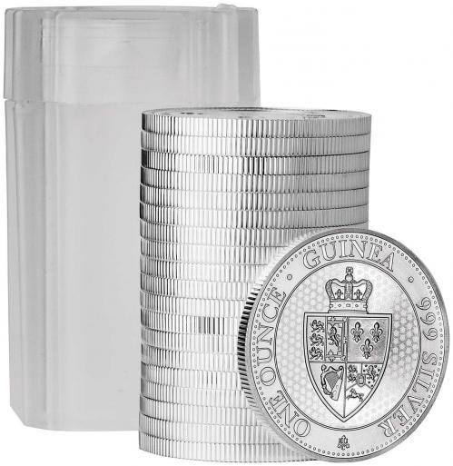 2019 1 oz Spade Guinea St Helena Silver Coin Coin Stack