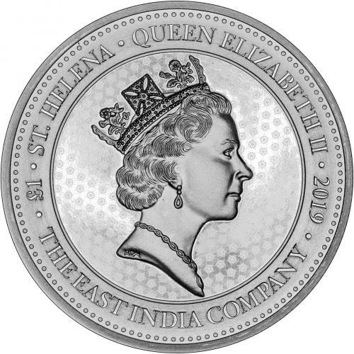 2019 1 oz Spade Guinea St Helena Silver Coin Obverse