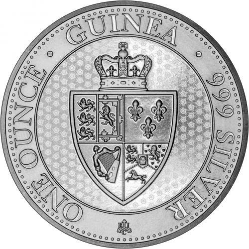2019 1 oz Spade Guinea St Helena Silver Coin Reverse