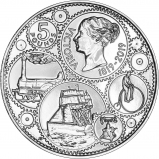 2019 B.U £5 200 Years Since the Birth of Queen Victoria Reverse