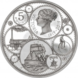 2019 Silver Proof 200 Years Since the Birth of Queen Victoria £5 Coin Reverse