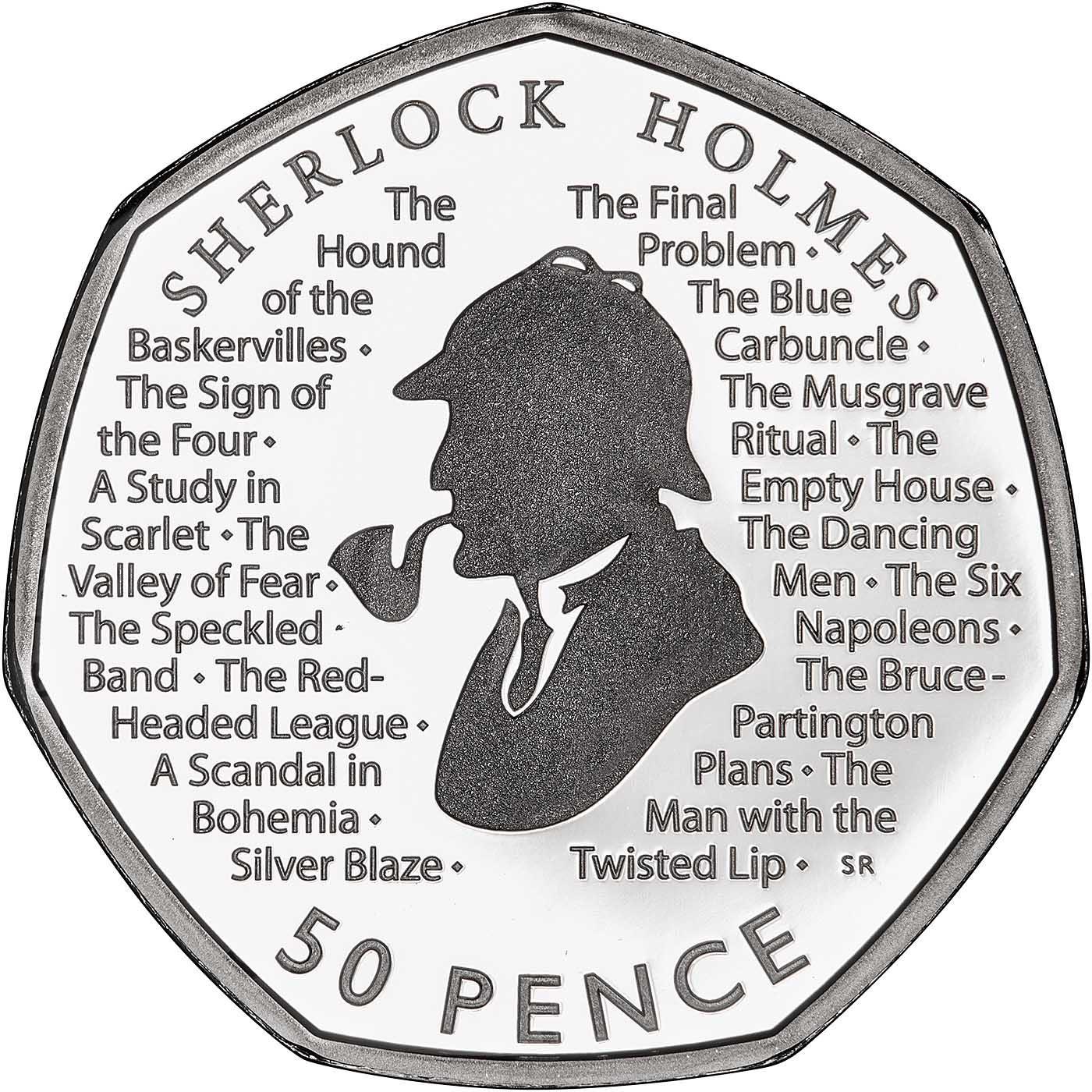 Sherlock holmes 50p coin