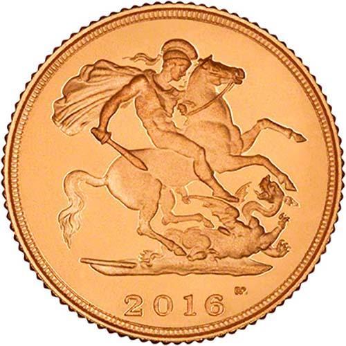 2016 Gold Half Sovereign Elizabeth II Proof 23338