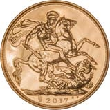2017 Gold Sovereign Bullion 21732