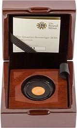 2016 Gold Quarter Sovereign Elizabeth II Proof 21736