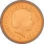 2015 Gold Quarter Sovereign Elizabeth II Proof Obverse