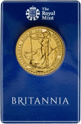 2015 1 oz Gold Britannia Bullion Coin In Card Reverse