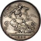 1893 Victoria Old Head Silver Crown Reverse