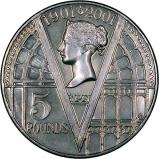 2001 Victorian Centenary Ordinary Circulation £5 / Crown Reverse