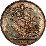 1895 Victoria Old Head Silver Crown Reverse
