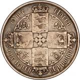 1872 Victoria Gothic Silver Florin Reverse