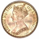 1853 Victoria Silver Gothic Florin Obverse