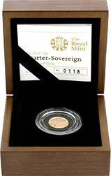 2010 Gold Quarter Sovereign Elizabeth II Proof Presentation Box
