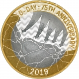 2019 D-Day Silver Proof £2 Coin Reverse