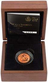 2013 Gold Half Sovereign Elizabeth II Proof Presentation Box