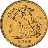 2009 Gold Half Sovereign Elizabeth II Bullion Reverse