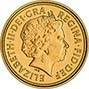 2009 Gold Half Sovereign Elizabeth II Bullion Obverse