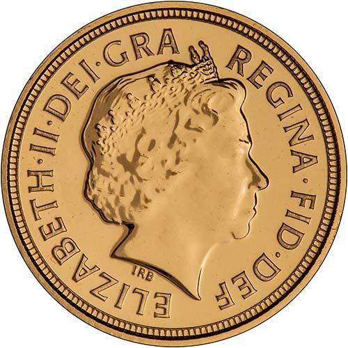 2008 Gold Half Sovereign Elizabeth II Bullion Obverse