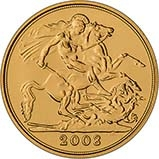 2008 Gold Half Sovereign Elizabeth II Bullion Reverse