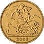 2008 Gold Half Sovereign Elizabeth II Bullion Reverse