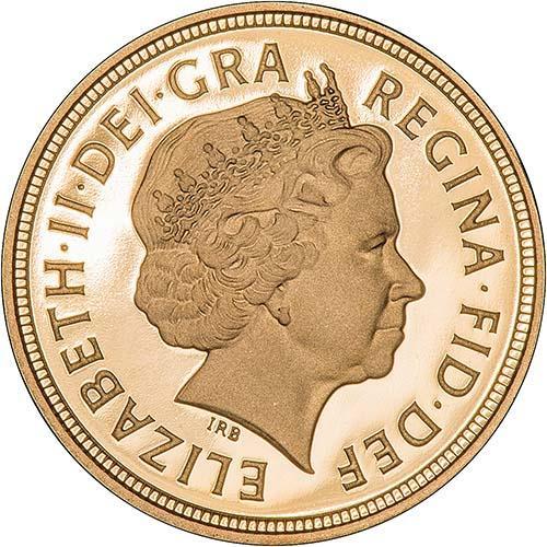 2008 Gold Half Sovereign Elizabeth II Proof Obverse
