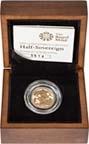 2008 Gold Half Sovereign Elizabeth II Proof Presentation Box