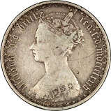 1874 Victoria Gothic Silver Florin Obverse