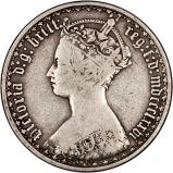 1876 Victoria Gothic Silver Florin