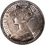 1881 Victoria Gothic Silver Florin Obverse