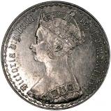 1883 Victoria Gothic Silver Florin Obverse