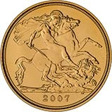 2007 Gold Half Sovereign Elizabeth II Bullion Reverse