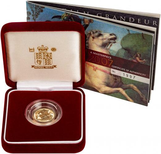 2007 Gold Half Sovereign Elizabeth II Proof Presentation Box