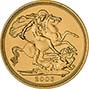 2006 Gold Half Sovereign Elizabeth II Bullion Reverse