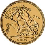 2004 Gold Half Sovereign Elizabeth II Bullion Reverse