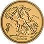 2003 Gold Half Sovereign Elizabeth II Bullion Reverse