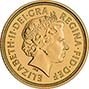 2003 Gold Half Sovereign Elizabeth II Bullion Obverse