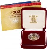 2002 Gold Half Sovereign Elizabeth II Proof Presentation Box